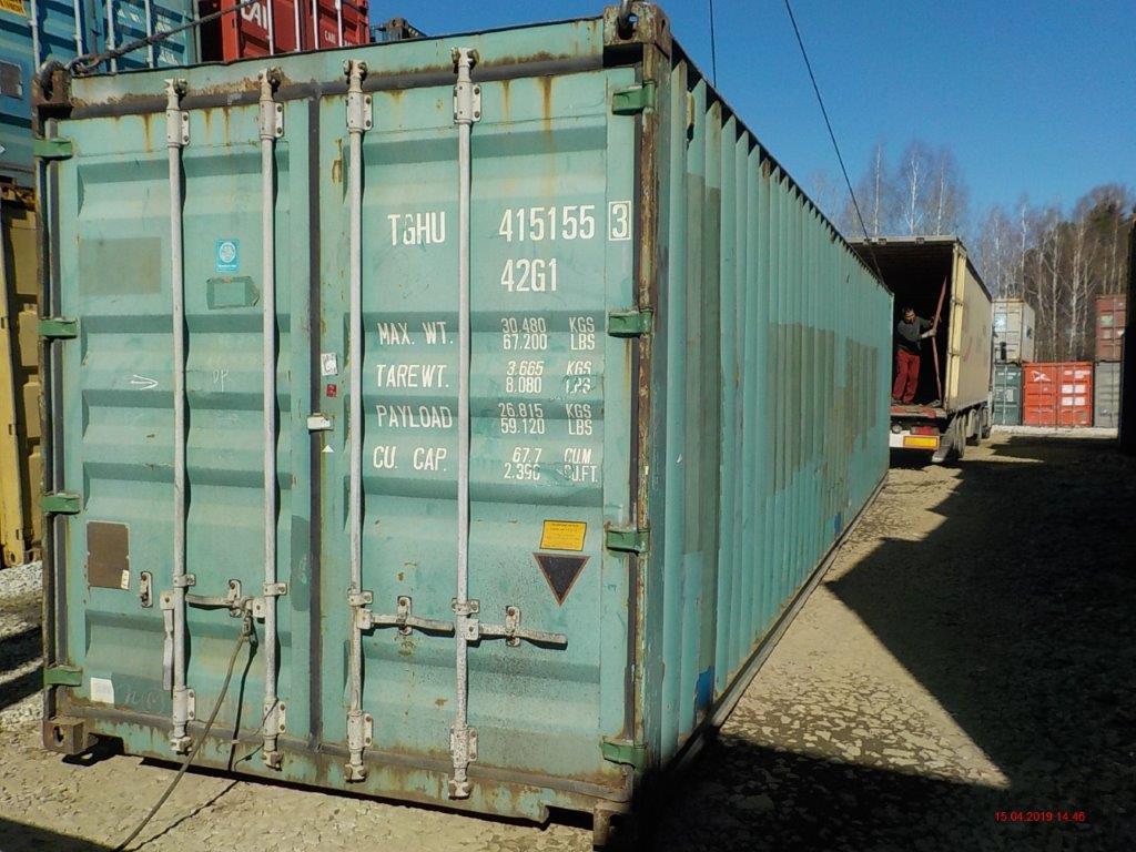 40 футовый контейнер Е1