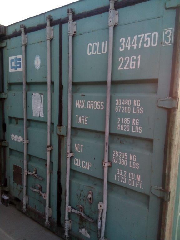 20 футовый контейнер Т 0011