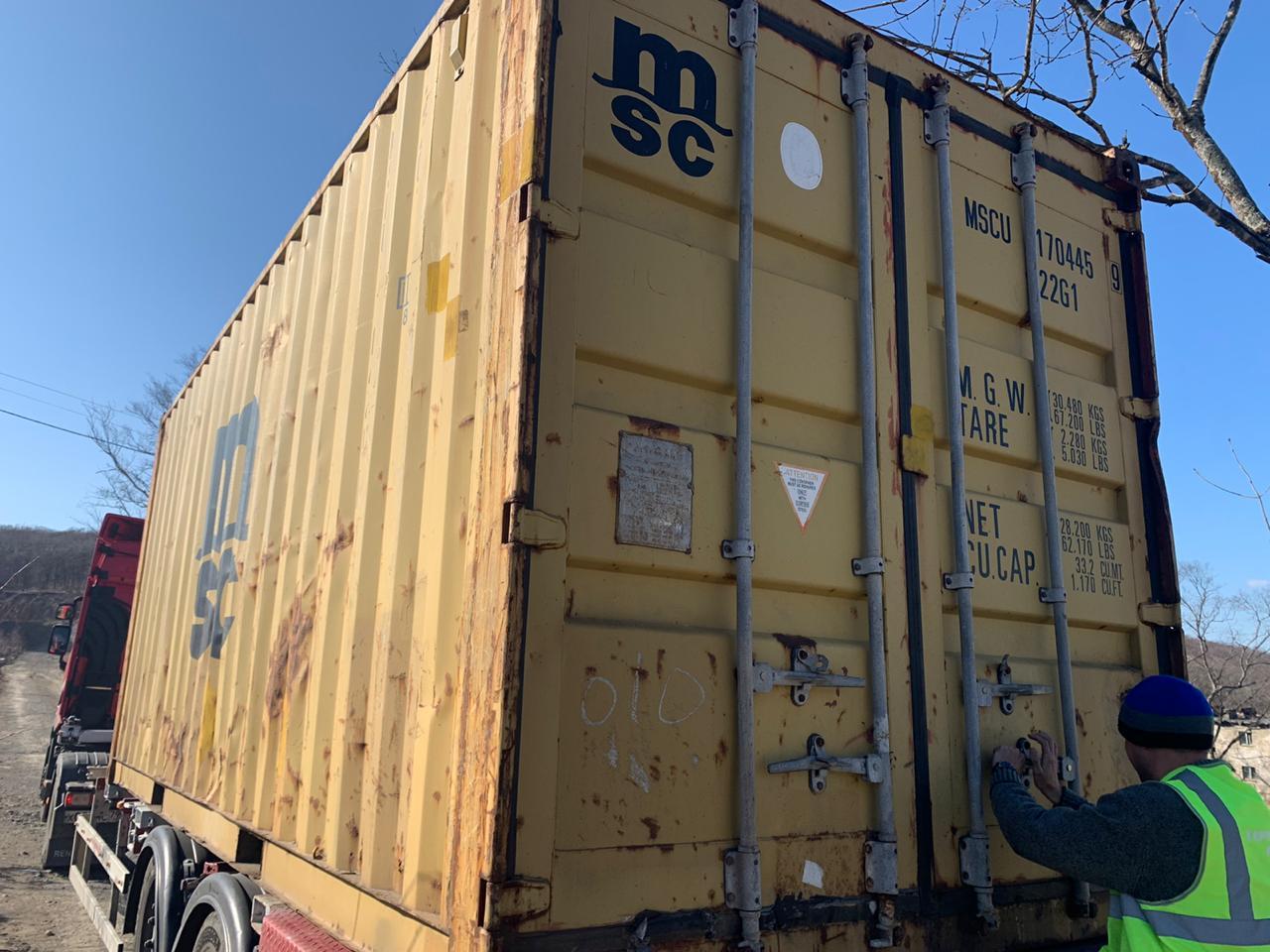 20 футовый контейнер vk 001