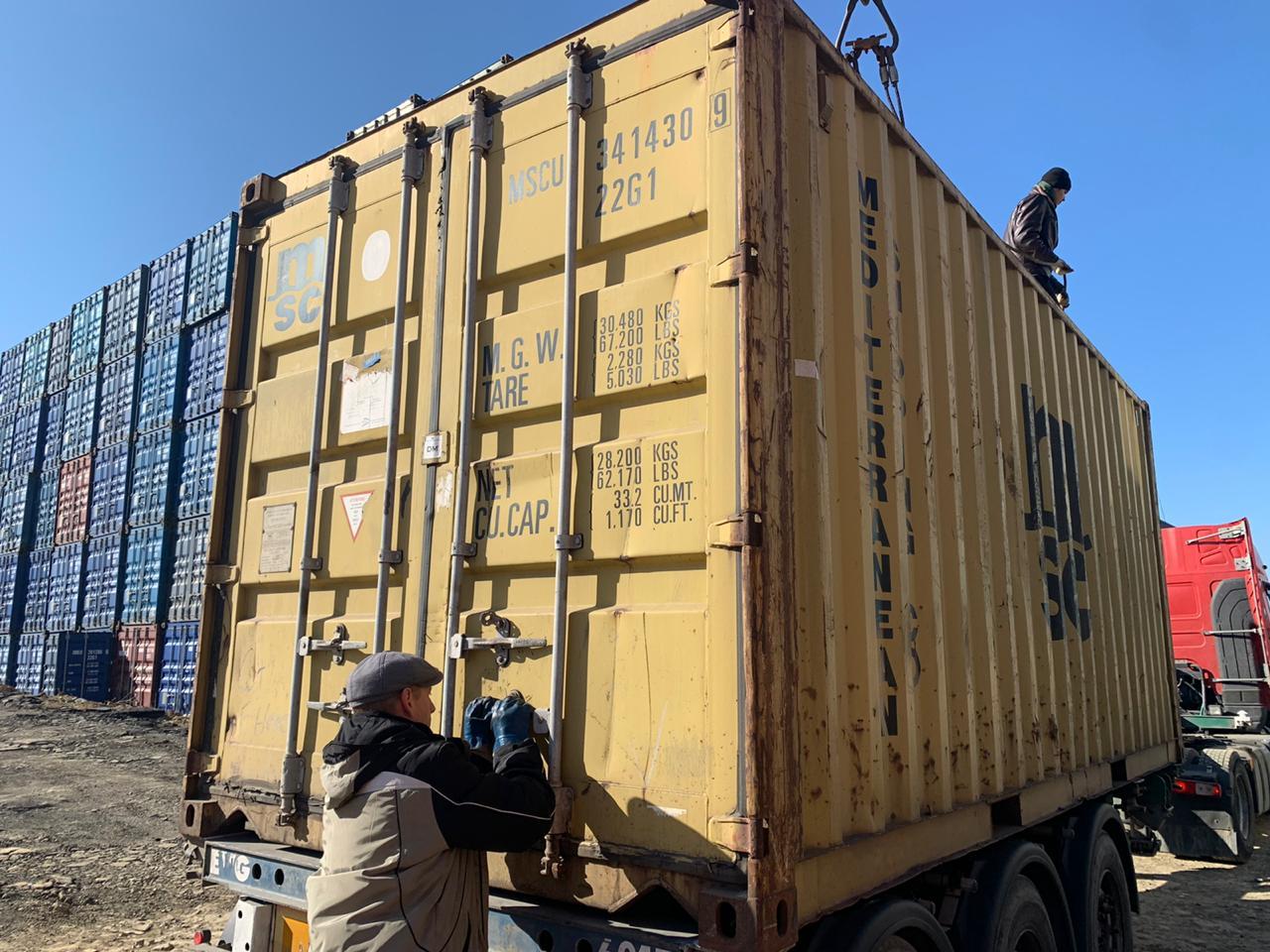 20 футовый контейнер vk 002