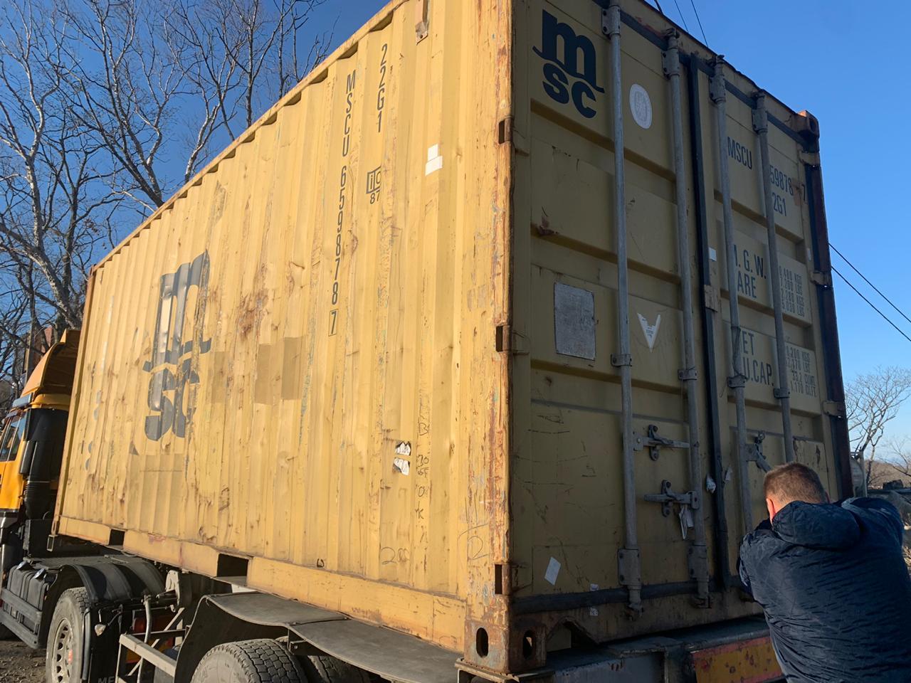 20 футовый контейнер vk 003