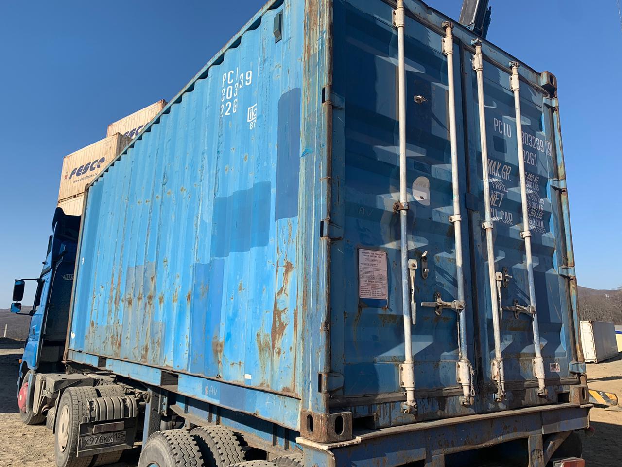 20 футовый контейнер vk 004